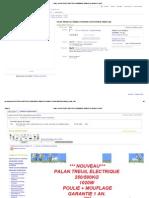 Ebay _ Palan Treuil Electrique 250_500kg 1020w Poulie+Mouflage