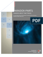 Paradox in time travel at past