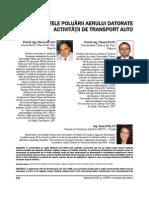 Efectele Poluarii Aerului Datorate Activitatii de Transport Auto