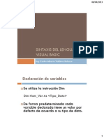 A - Sintaxis Del Lenguaje Visual Basic 6