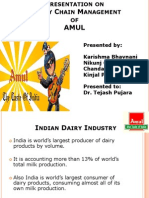 Presentation on Supply Chain Management of AMUL