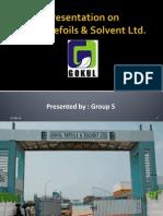 Strategic Marketing Presentation on Gokul Refoils