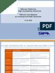VMWare Seminar, Platforms for HA