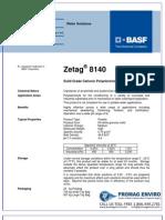 Chemicals Zetag DATA Powder Zetag 8140 - 0410