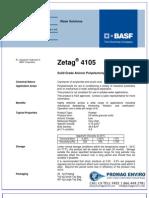 Chemicals Zetag DATA Powder Zetag 4105 - 1110