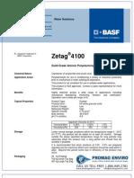 Chemicals Zetag DATA Powder Zetag 4100 - 1110