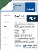 Chemicals Zetag DATA Powder Zetag 4125 - 1110