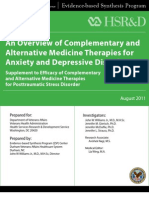 An Overview of Complementary and Alternative Medicine Therapies for Anxiety and Depressive Disorders