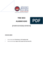 PANDUAN TUGASAN TRM 3033
