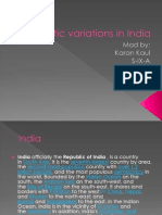 Climatic Variations in India