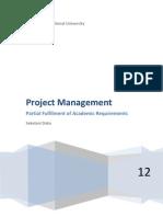 Project Management....