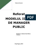 Modelul Ideal de Manager Public
