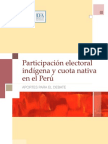 Indigenous Participation in Elections and the Native Quota in Peru Contributions to the Debate Spanish PDF