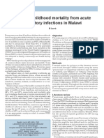 Reducing Childhood Mortality From Acute Respiratory Infections in Malawi