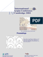 10 th International Myopia conference , Cambridge 2004  - abstract book