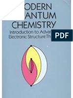 Modern Quantum Chemistry Introduction to Advanced Electronic Structure Theory - Szabo
