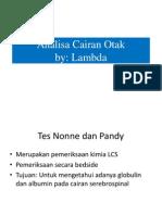 Analisa Lcs Lambda
