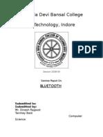Bluetooth (Seminar Report)