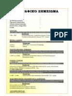 Πρότυπο βιογραφικού σημειώματος -2