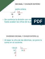 Dividendo Decimal y Divisor Entero