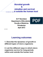 Microbial Growth, Dissemination and Survival Within and Outside the Human Host