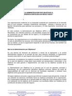 [PD] Publicaciones - De La Administracion Por Objetivos a La Gerencia Enfocada en Resultados