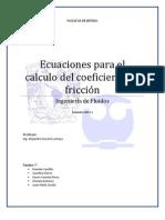 coeficiente de fricciónA