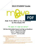 CIY MOVE 2013 Amplify Student Guide