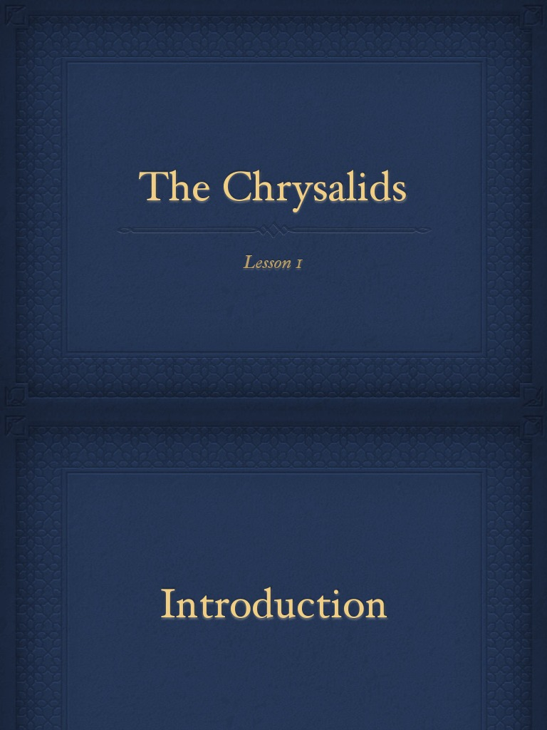 3 lessons from The Chrysalids?