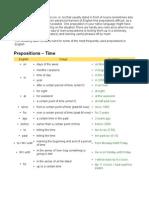 Prepositions English