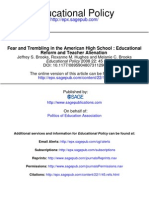 3 Fear and Trembling in the American High School