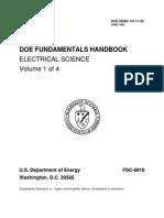 Electrical Science Fundamentals Handbook vol-1