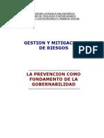 La Prevención como Fundamento de la Gobernabilidad
