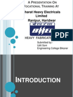 BHEL(bharat heavy electricals limited ) Haridwar Block 2 Heavy Fabrication