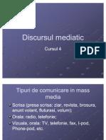 78025903 Discursul Mediatic Cursul 4