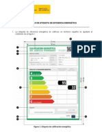 Modelo de Etiqueta de Eficiencia Energética.