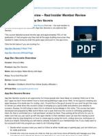 App Dev Secrets Review Real Insider Member Review