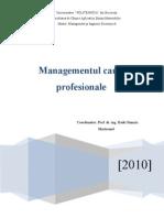 Managementul Carierei Profesion