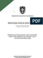 RKS Pengadaan Jasa Konsumsi Diklat Prajabatan