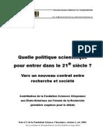 Sciences Citoyennes_politique Scientifique Dans Le 21siecle