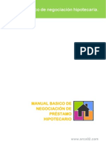 MANUAL BASICO DE NEGOCIACIÓN DE PRÉSTAMO HIPOTECARIO
