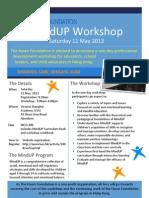 130511 MindUP Teacher Training Workshop Flyer
