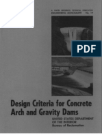 Design Criteria for Concrete Arch and Gravity Dams