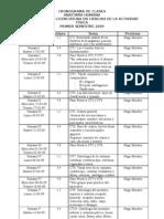 Cronograma de Clases 1er Semestre