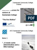 SCC Sastamala Community College Finland ActiveICT Courses for Seniors