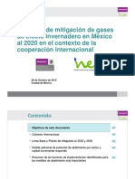 Potencial Mitigacion GEI Mexico 2020 COP 3 - Version Resumida