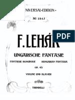 Lehar - hungarian Fantasy  violin and Piano