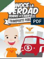 Conoce la verdad sobre la tarifa del Transporte Público