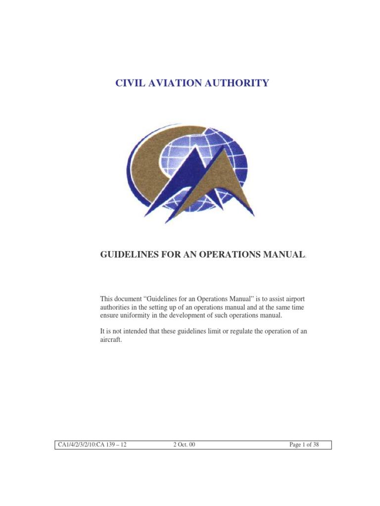 what is an aerodrome manual