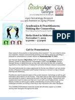 GGS Fall Symposium Call for Presentations Making the Connection